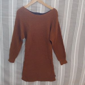 Two tone sweater dress
